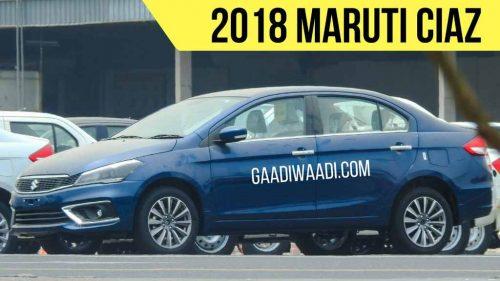 New Maruti Ciaz Facelift Spied 1 (2018 maruti suzuki ciaz petrol)