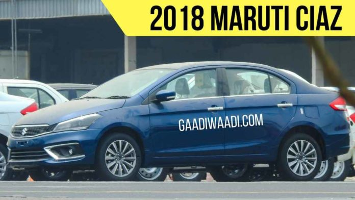 New Maruti Ciaz Facelift Spied 1
