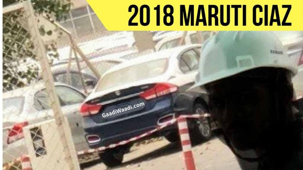New Maruti Ciaz Facelift Spied 2