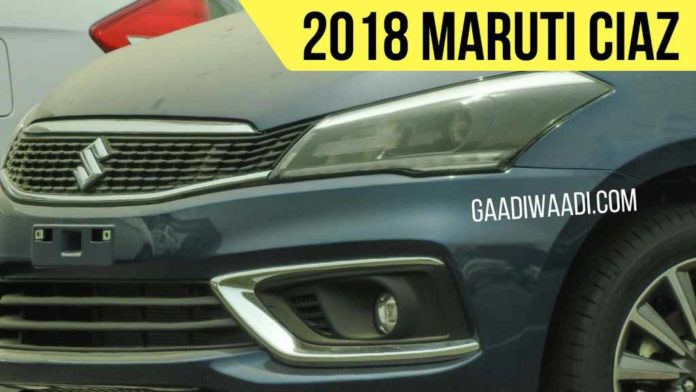 New Maruti Ciaz Facelift Spied