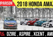 New Honda Amaze vs Maruti Dzire vs Other Rivals Spec Comparison - Video