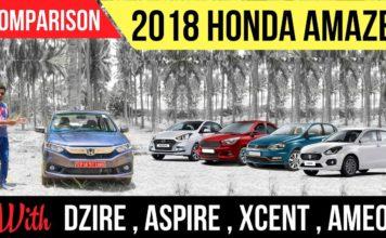 New Honda Amaze vs Maruti Dzire vs Other Rivals Spec Comparison - Video