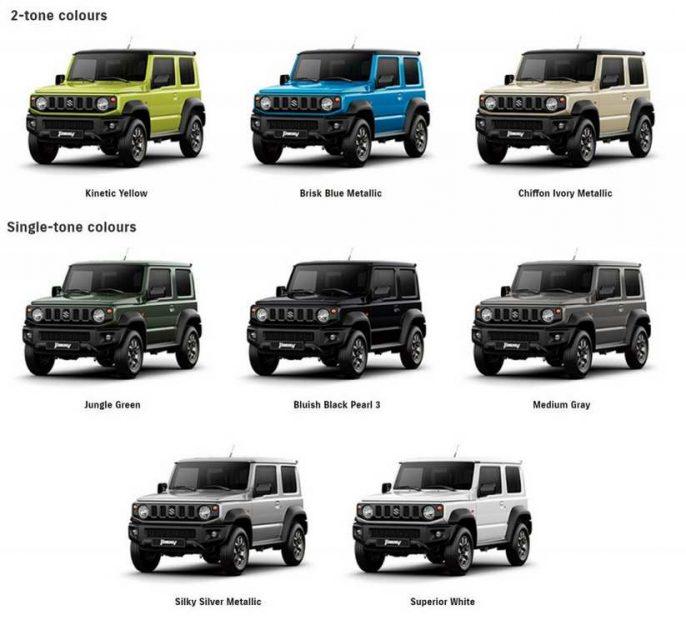 2019 Suzuki Jimny Colours