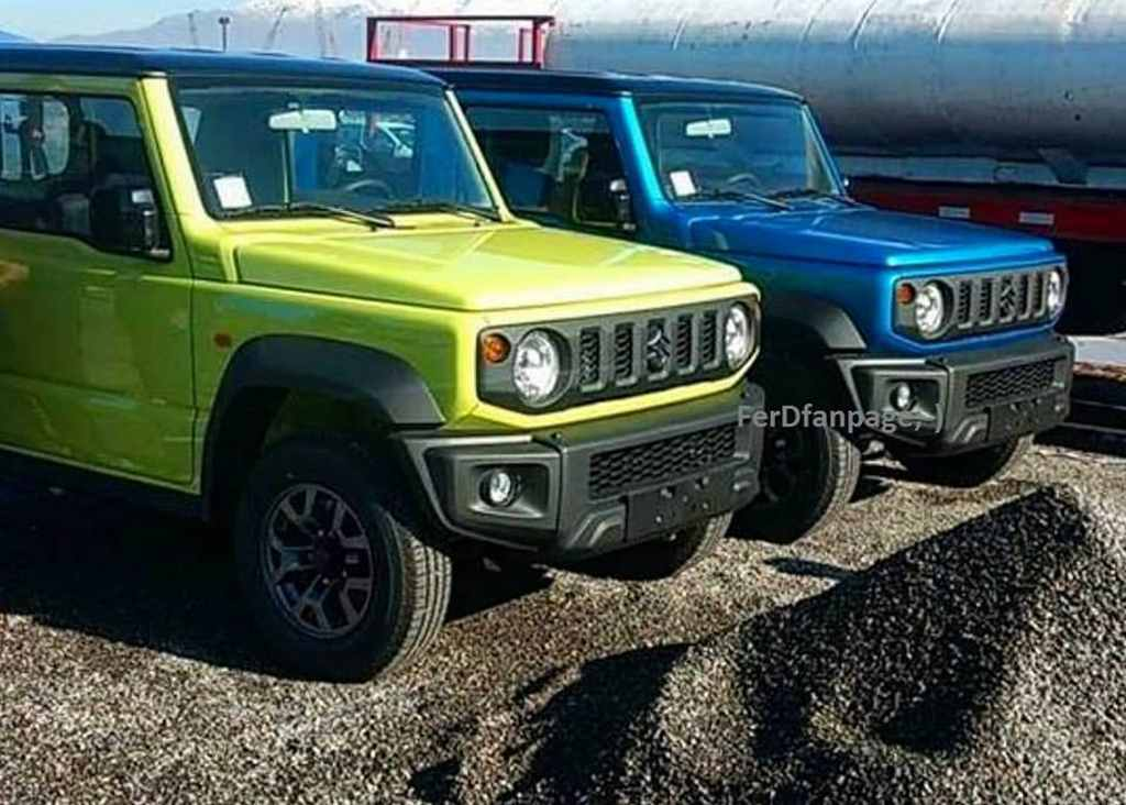 2019 suzuki jimny design, spy shots, colours 1