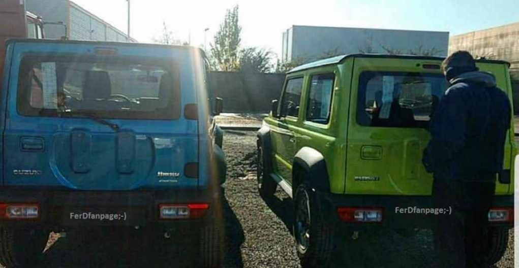 2019 suzuki jimny design, spy shots, colours