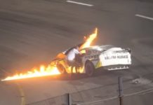 Father Saves Son Race Car Crash NASCAR Boston Speedway 1
