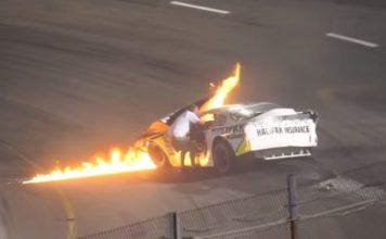 Father Saves Son Race Car Crash NASCAR Boston Speedway 1