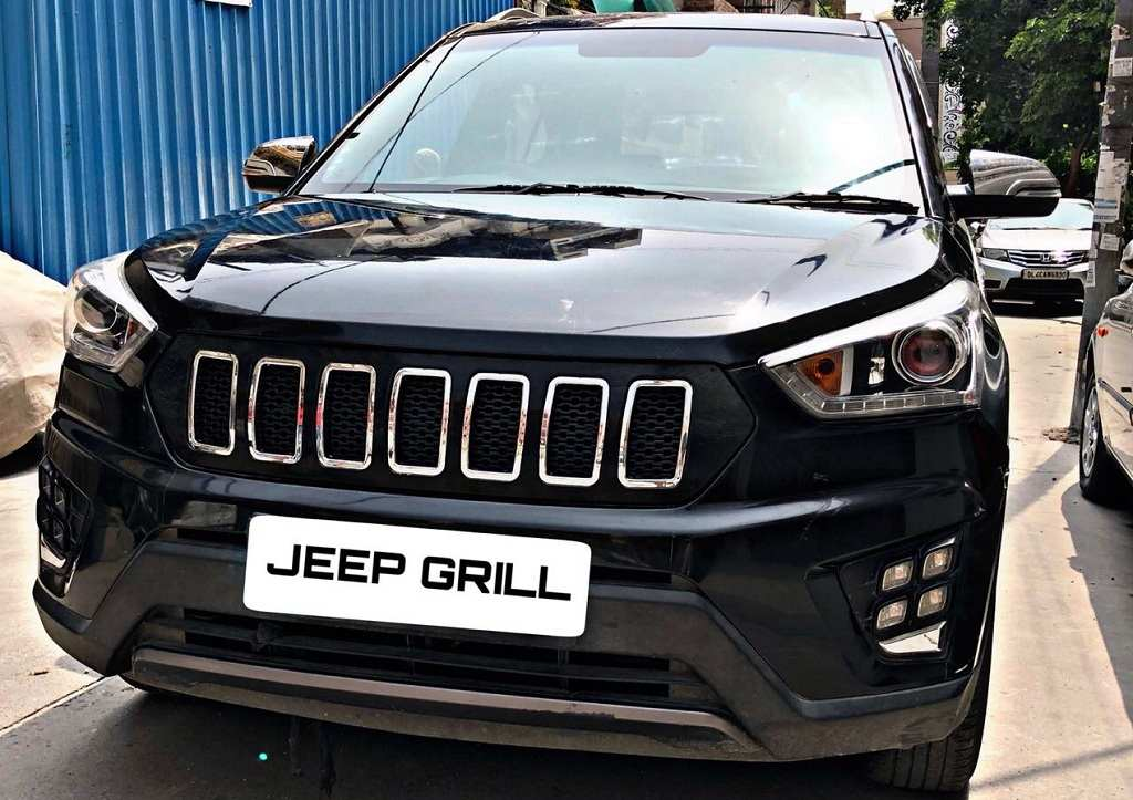 Hyundai Creta Customised With Jeep Grille Looks Well-Proportioned
