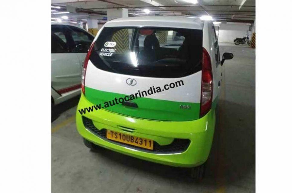 Jayem Neo EV Tata Nano Electric Version Spied As Part Of Ola Fleet 1