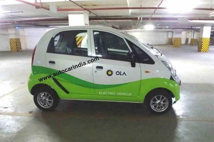 Jayem Neo EV Tata Nano Electric Version Spied As Part Of Ola Fleet 4