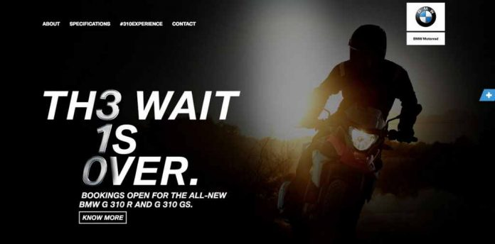 Official! BMW G310 GS Adventure Tourer's Bookings Open In India