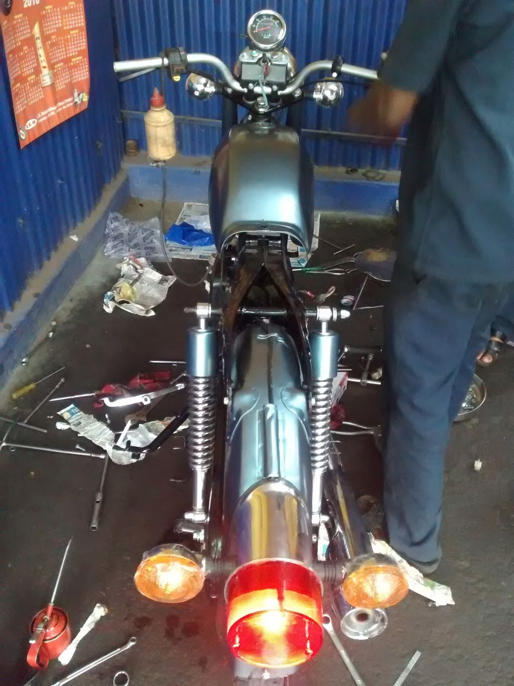 1996 Hero Honda Cd 100ss Restored And Modified With Caf 233