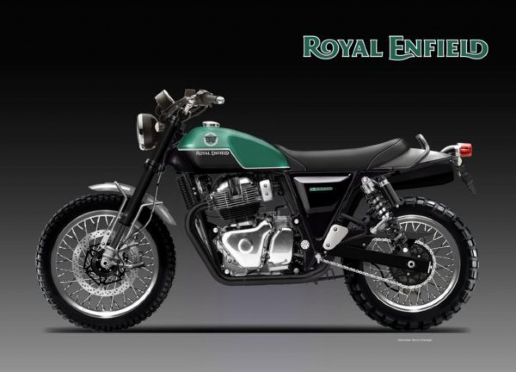 royal enfield scrambler 650 twins looks ready for action rendering. Black Bedroom Furniture Sets. Home Design Ideas