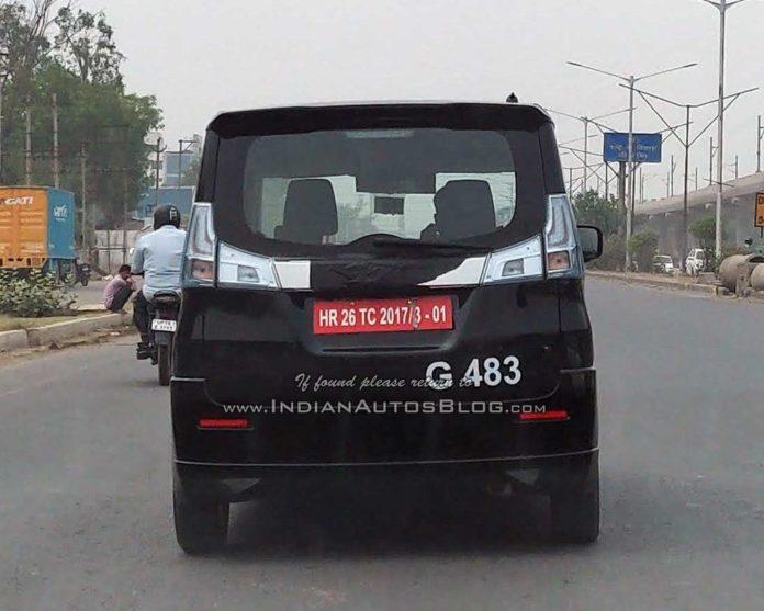 Suzuki-Solio-rear-spyed-in-India