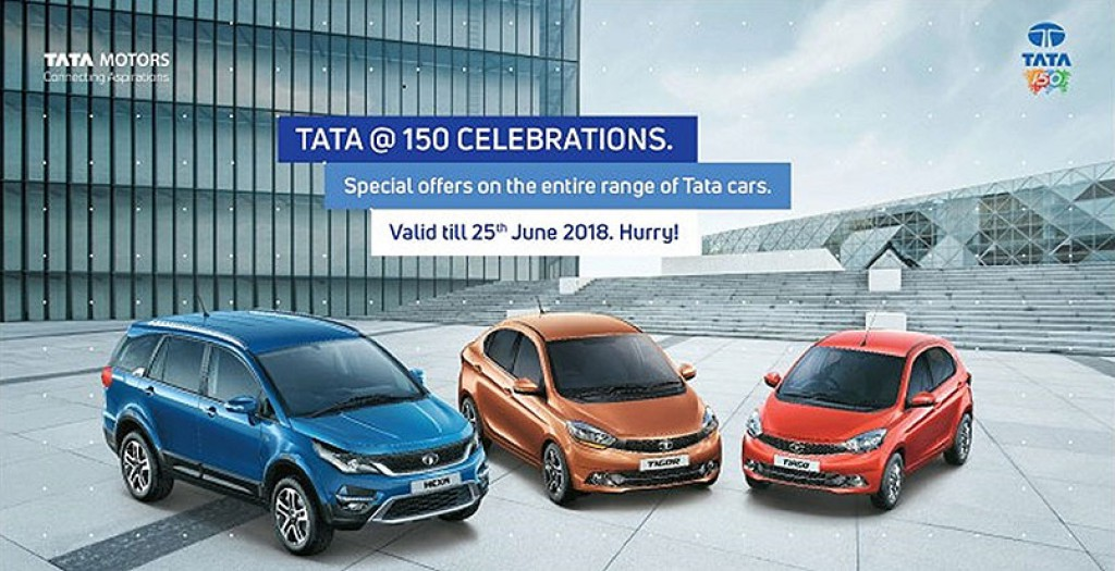 Tata Motors Announces Special Offers; Celebrates 150 Years Of Tata Group