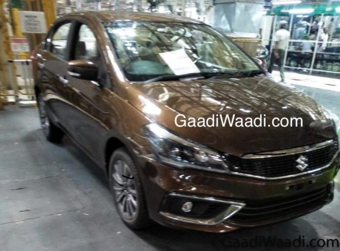 2018 Maruti Suzuki Ciaz Spied Inside And Out; Ready For Launch 4