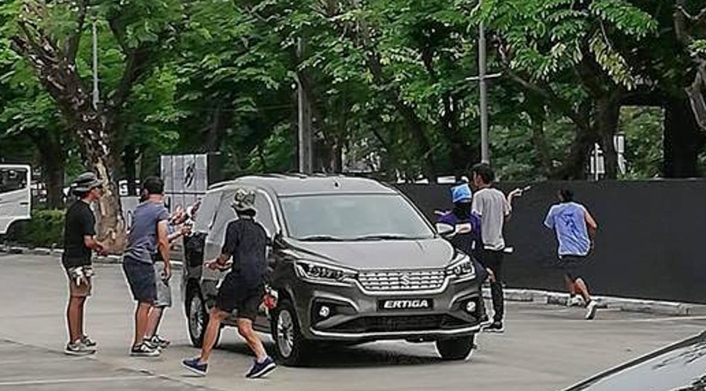 All-New 2018 Ertiga Spotted During Ad Shoot; Looks Absolutely Stylish