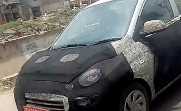 All-New 2018 Hyundai Santro Spied Front Grille