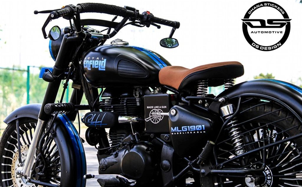 Modified Royal Enfield Classic 350 DS Design