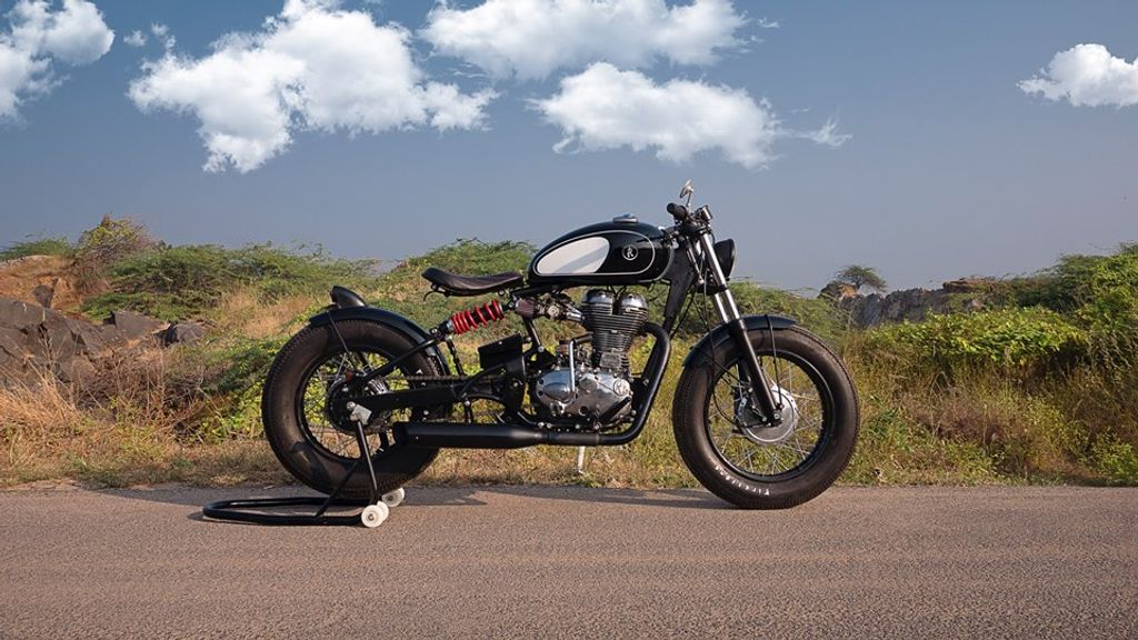 This Modified Royal Enfield Classic 500 With Bobber Style