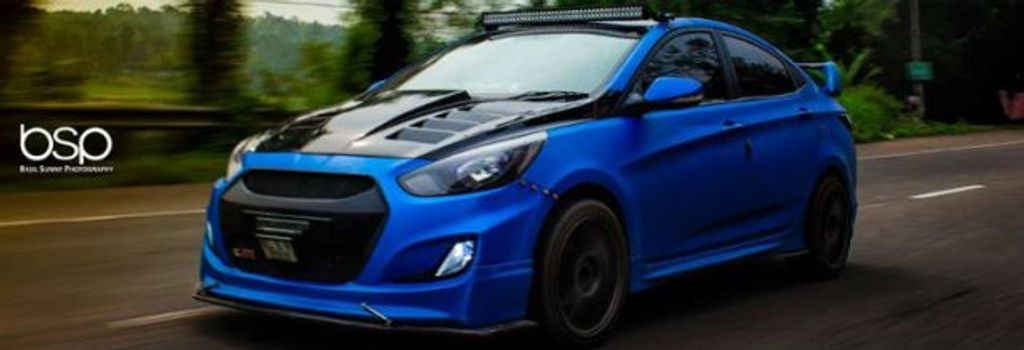 This Modified Hyundai Verna Is Embodied With Aggression