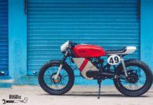 Modified Yamaha RX100 Café Racer