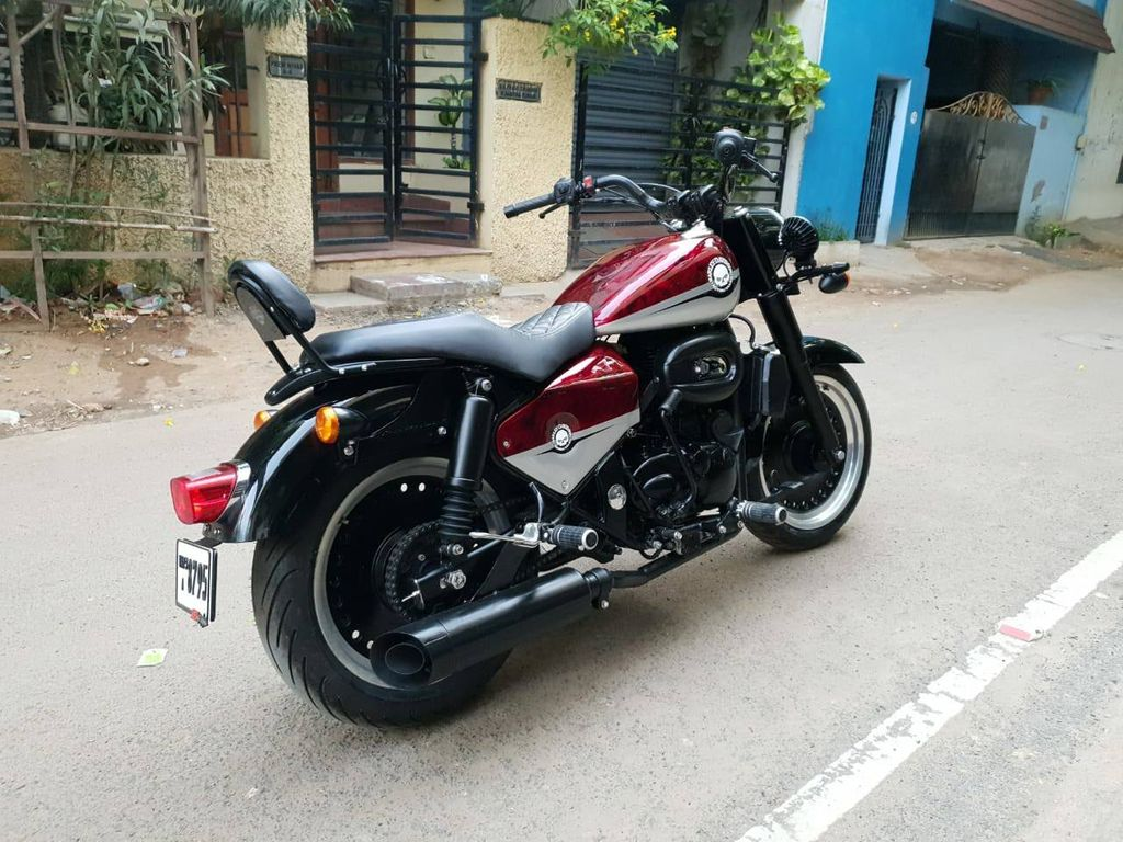 Royal Enfield Classic 350 Modified To Look Like Harley Davidson Fat Boy