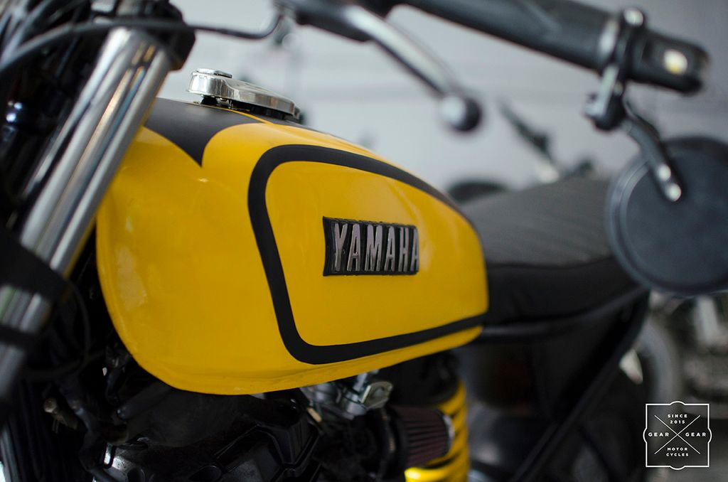 This Yamaha FZ Is Modified Into RX 100 Inspired Cafe Racer