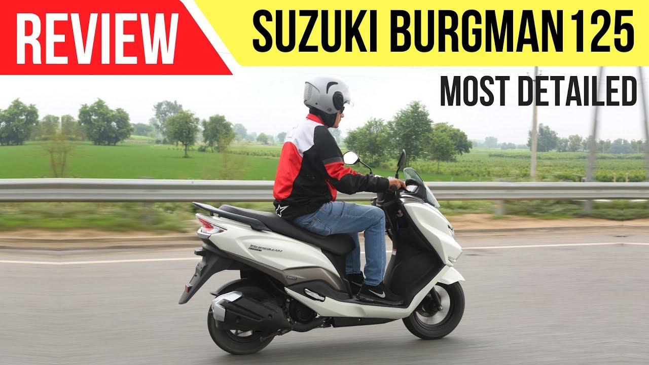 suzuki burgman street 125 most detailed review