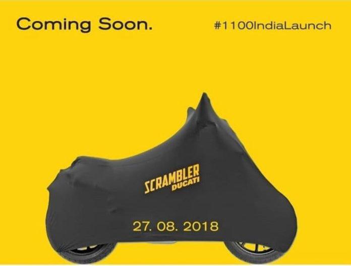 2018 Ducati Scrambler 1100 India Launch 1