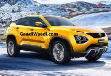 2019 Tata Harrier SUV Rendered Golden Yellow