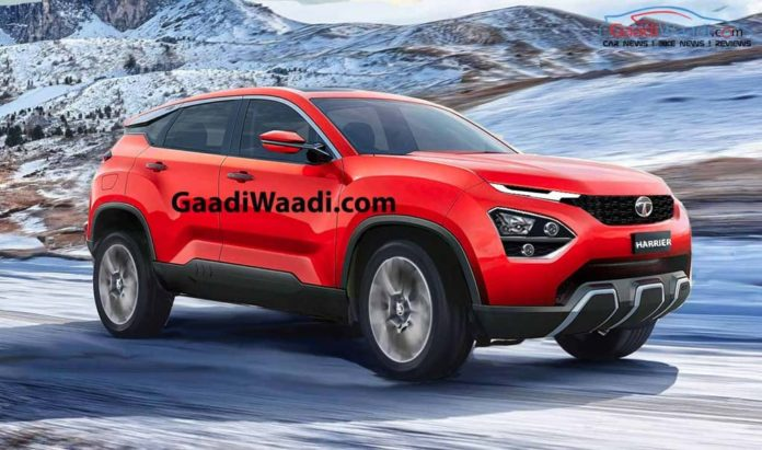 2019 Tata Harrier Red SUV Rendered Red