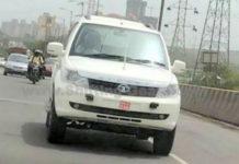 Tata Safari Storme Army White Colour