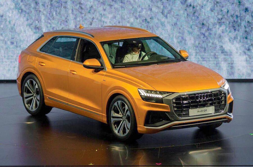 flagship audi q8 suv makes public debut india launch likely in 2019. Black Bedroom Furniture Sets. Home Design Ideas