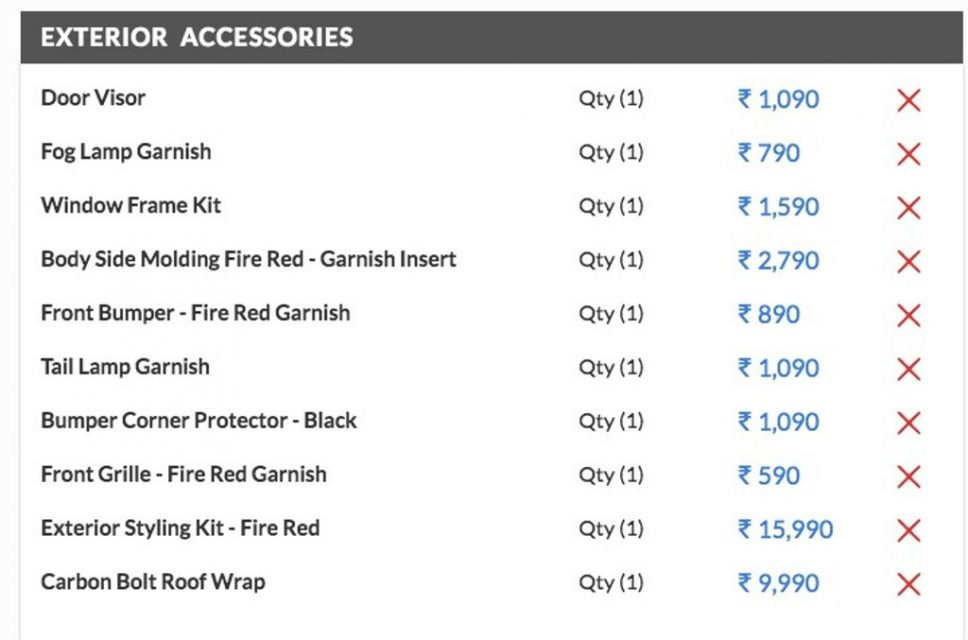 Maruti-Suzuki-Swift-iCreate-exterior-accessories-price-list