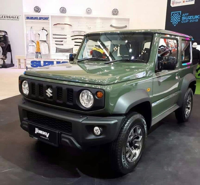 new suzuki jimny small 4x4 suv showcased at giias 2018. Black Bedroom Furniture Sets. Home Design Ideas