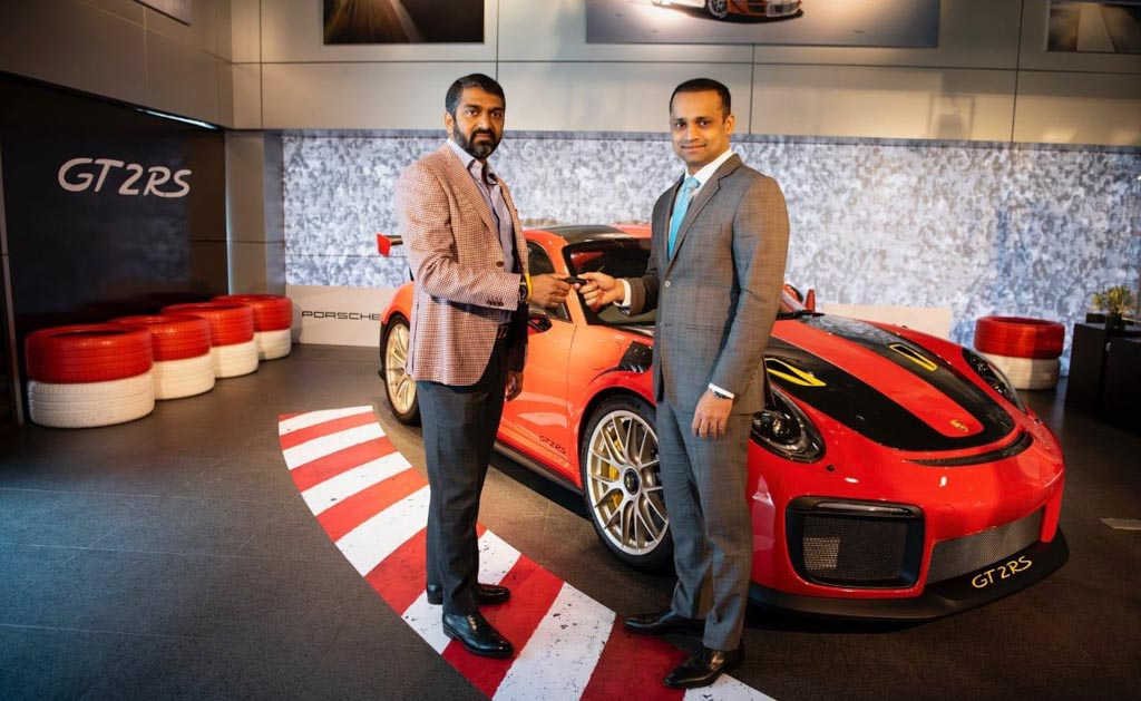 Porsche 911 GT2 RS Delivered India Boopesh Reddy (India's First Porsche 911 GT2 RS Delivered)