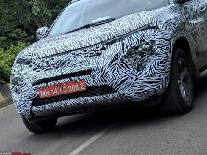 Tata Harrier Spied Front End