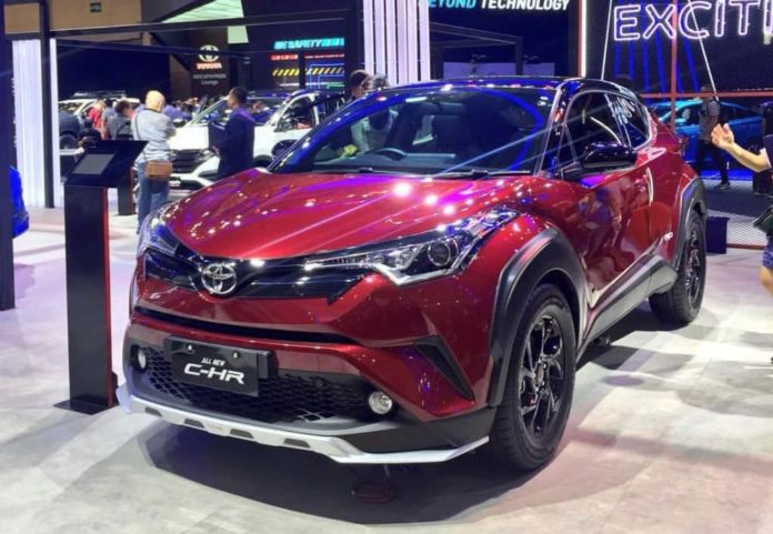 India-Bound Toyota CH-R SUV GIIAS 2018