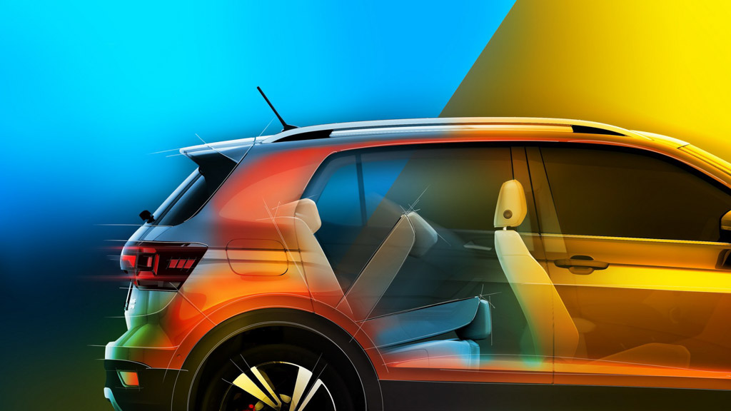 Volkswagen T-Cross SUV's Latest Teaser Emphasises Its Practicality (Volkswagen T-Cross Teaser)