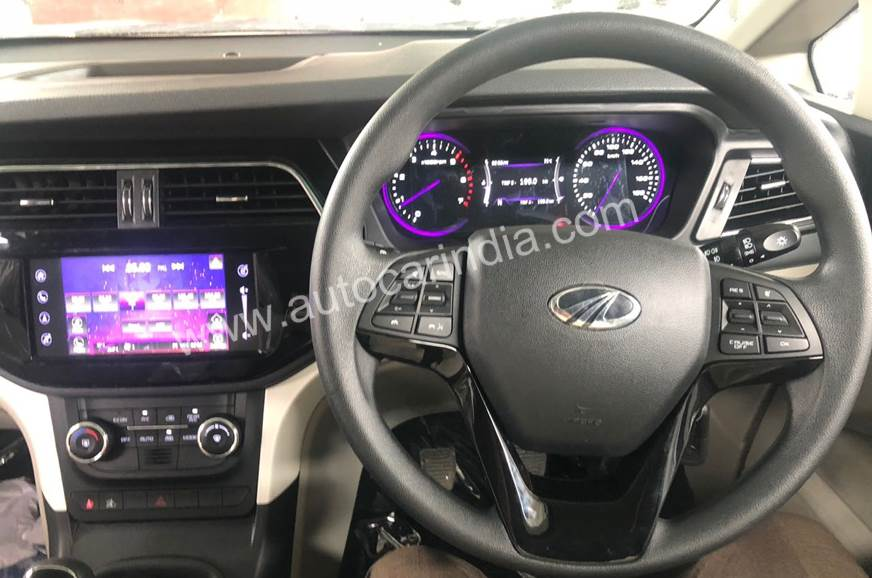 mahindra marazzo images interior steering wheel