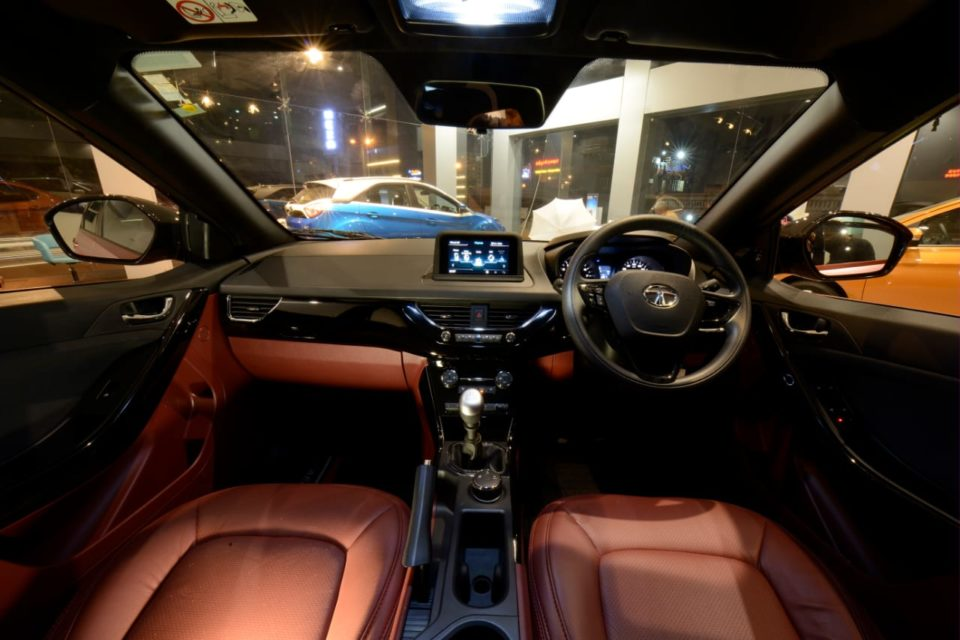 tata nexon rose gold interior