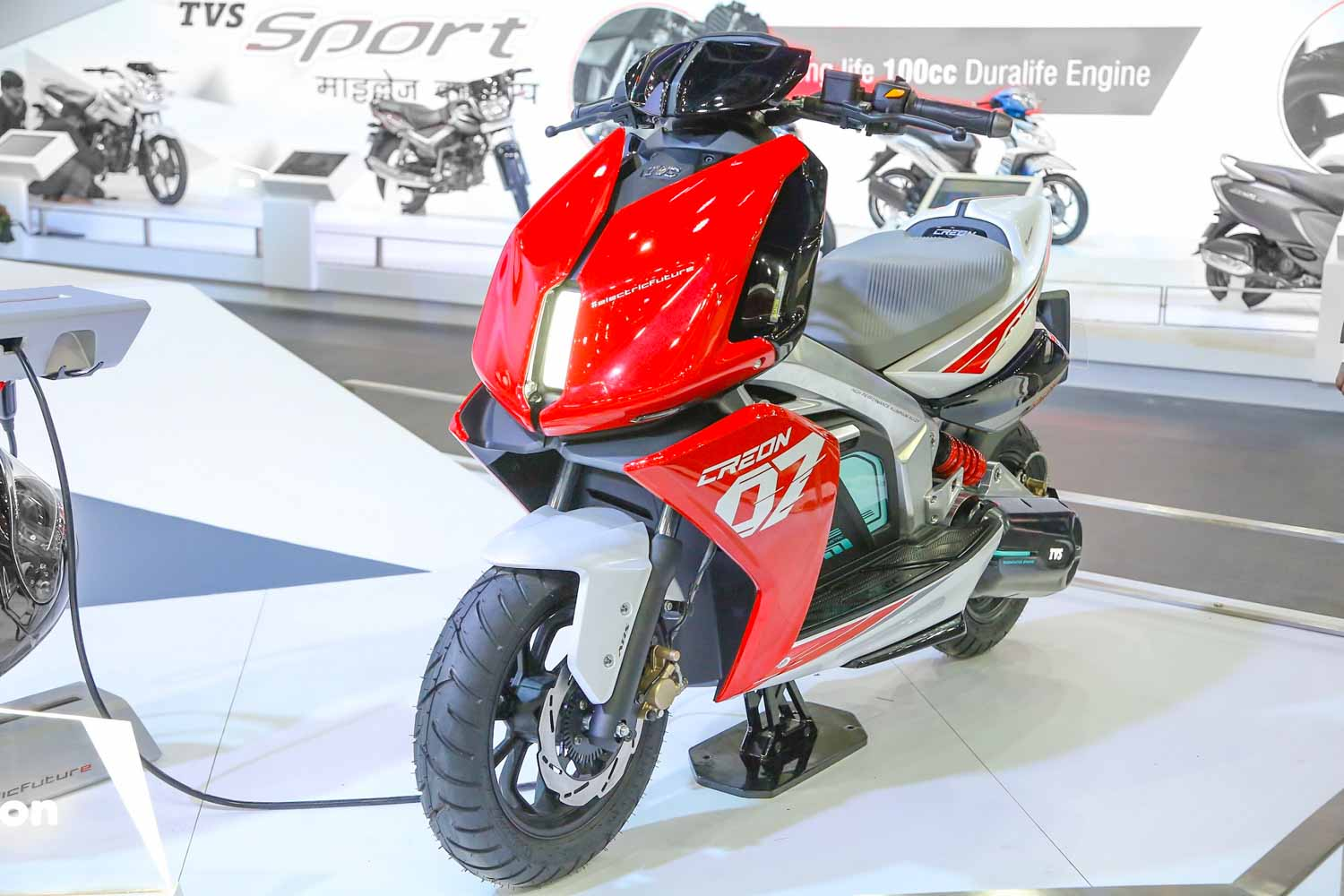 TVS Electric Scooter Teased For The First Time; Could Rival Bajaj Chetak EV - GaadiWaadi.com thumbnail
