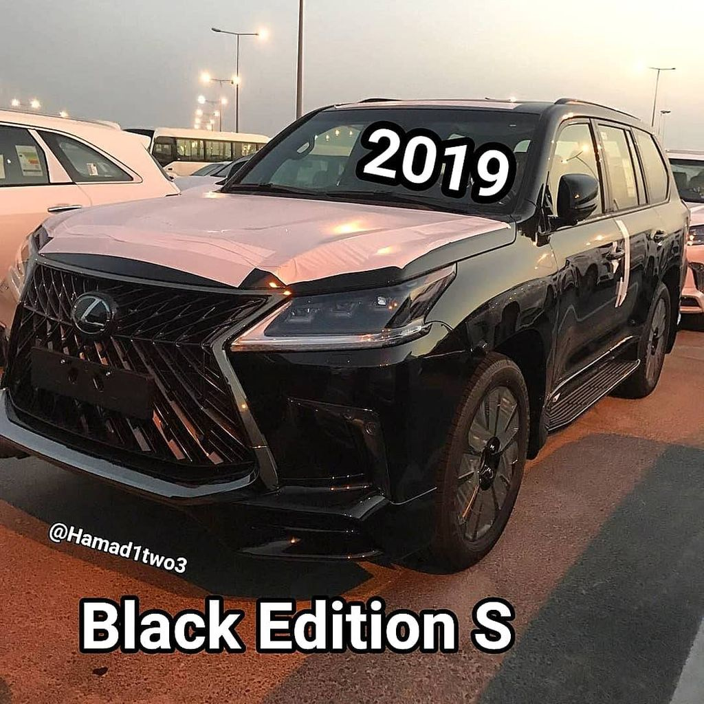 2019 Toyota Land Cruiser and 2019 Lexus LX 570 Black ...