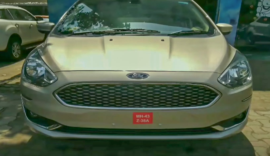 2019 ford aspire facelift Revealed Spy Video