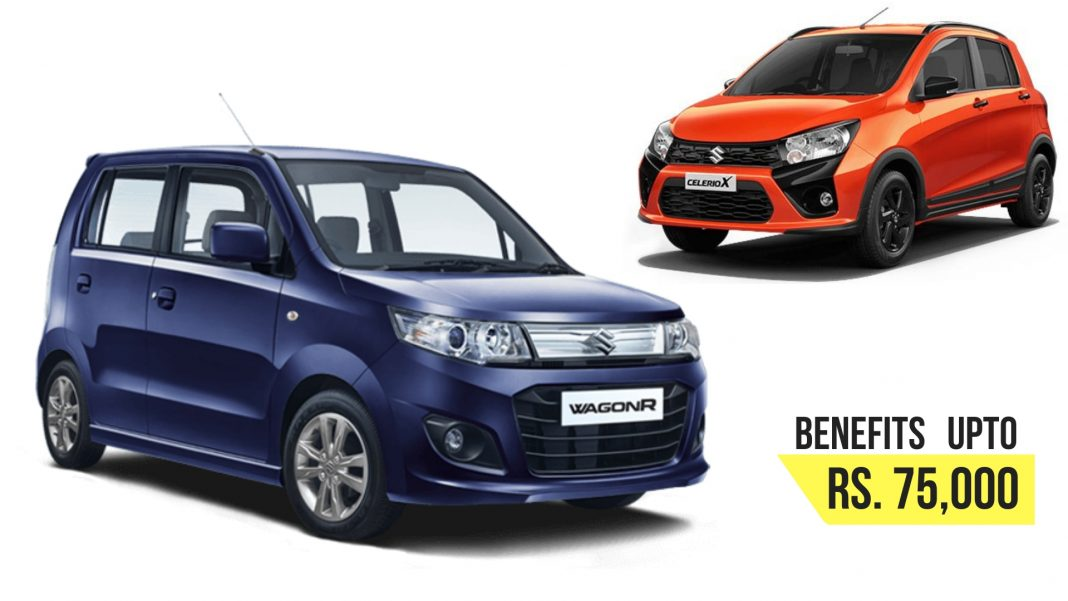 Benefits Upto 75,100 On Wagon-R, 65,100 On Celerio In September