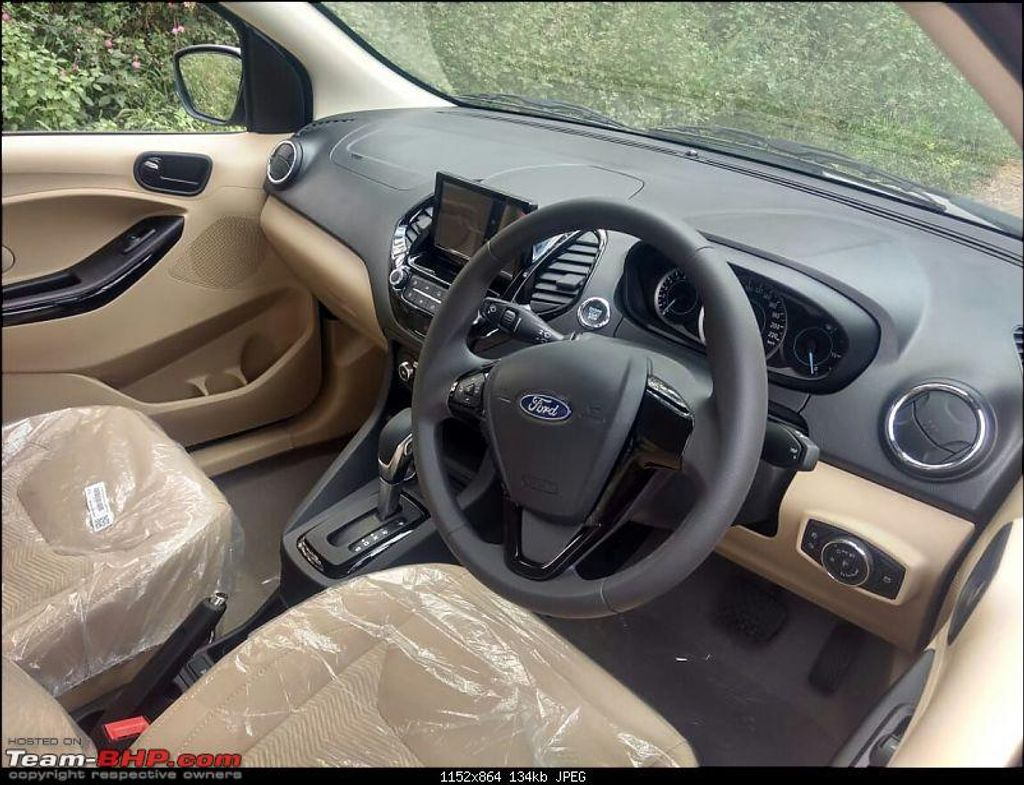 Ford figo aspire facelift spied again 7