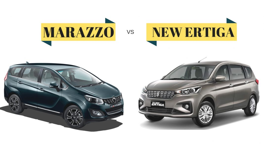 First Team Toyota >> New Maruti Ertiga vs Mahindra Marazzo Comparison - Most ...