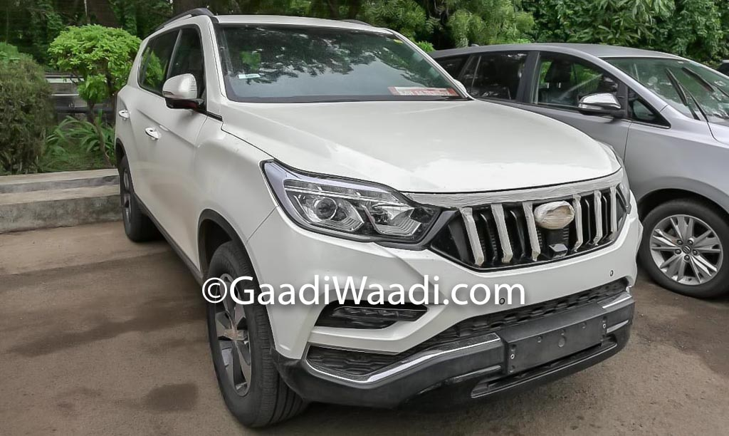 Upcoming Mahindra XUV700 (Rexton) Spied Inside And Out Ahead Of Launch