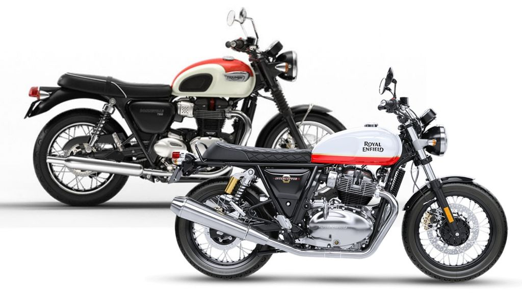 triumph bonneville inspired re interceptor to be sold in six colour